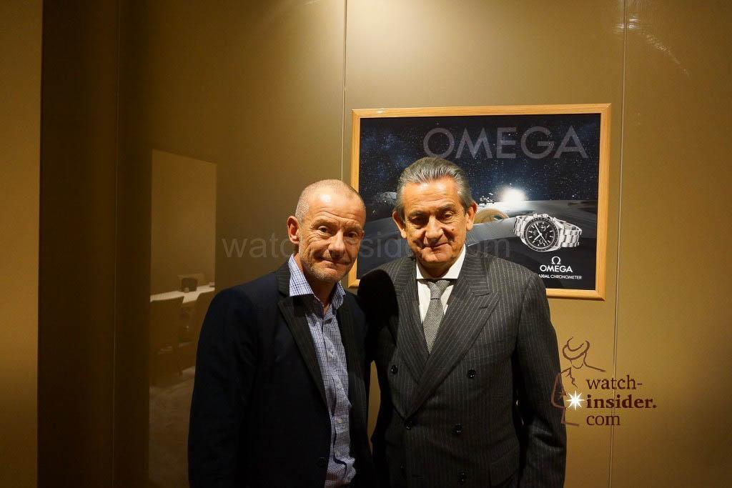 Alexander Linz and Stephen Urquhart, President of Omega