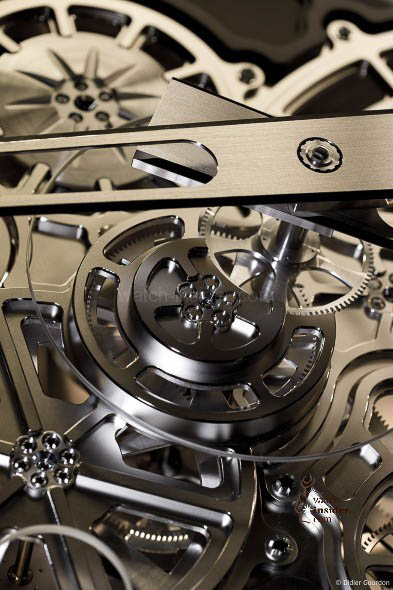 Details of the Richard Mille clock.