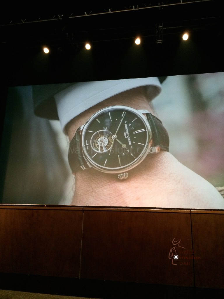 Peter Stas revisited Frederique Constant's brand building over the past ten years and he revealed two new timepieces in the Manufacture collection, specially edited for this tenth anniversary.