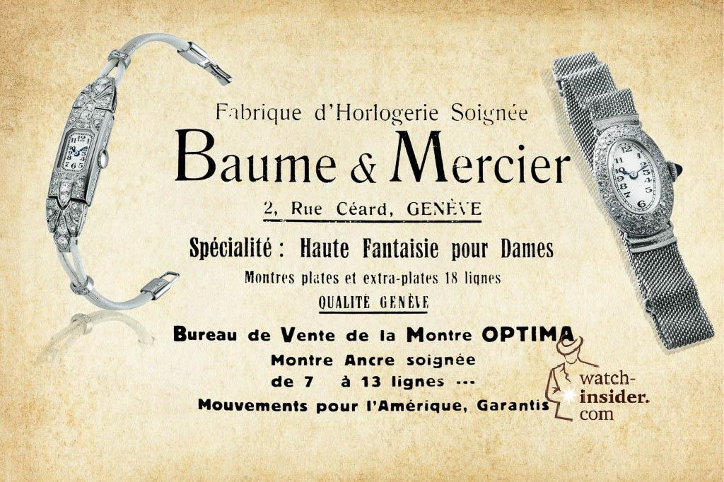 Baume & Mercier advertising from 1920