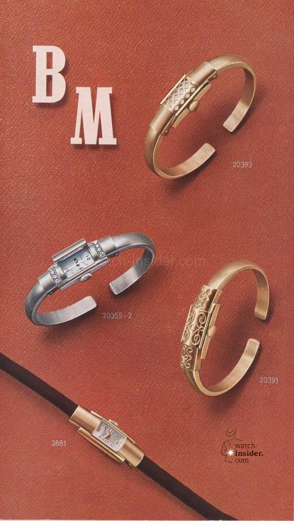 Baume & Mercier Marquise et montres bijoux from 1955