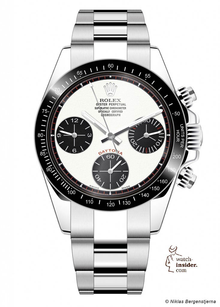 Rolex Daytona created with an Adobe Illustrator by Niklas Bergenstjerna. Copyright Niklas Bergenstjerna