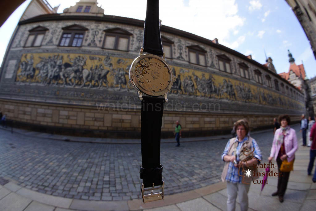 A. Lange & Söhne Lange 1 and the Fürstenzug in Dresden