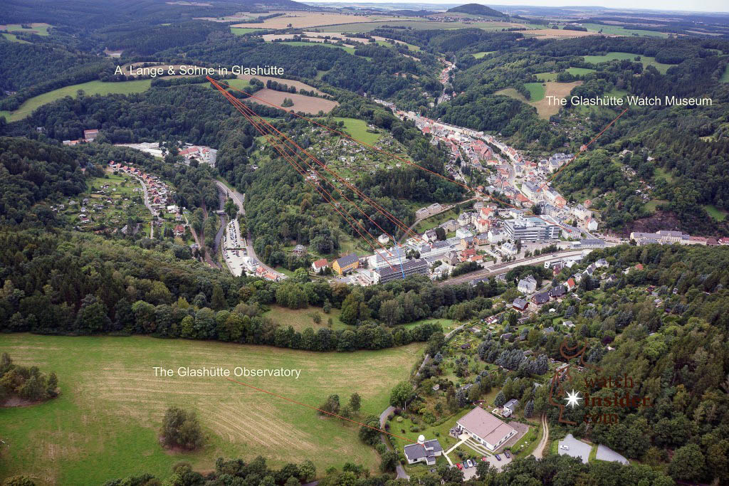 Glashütte / Saxony from the bird's eye view
