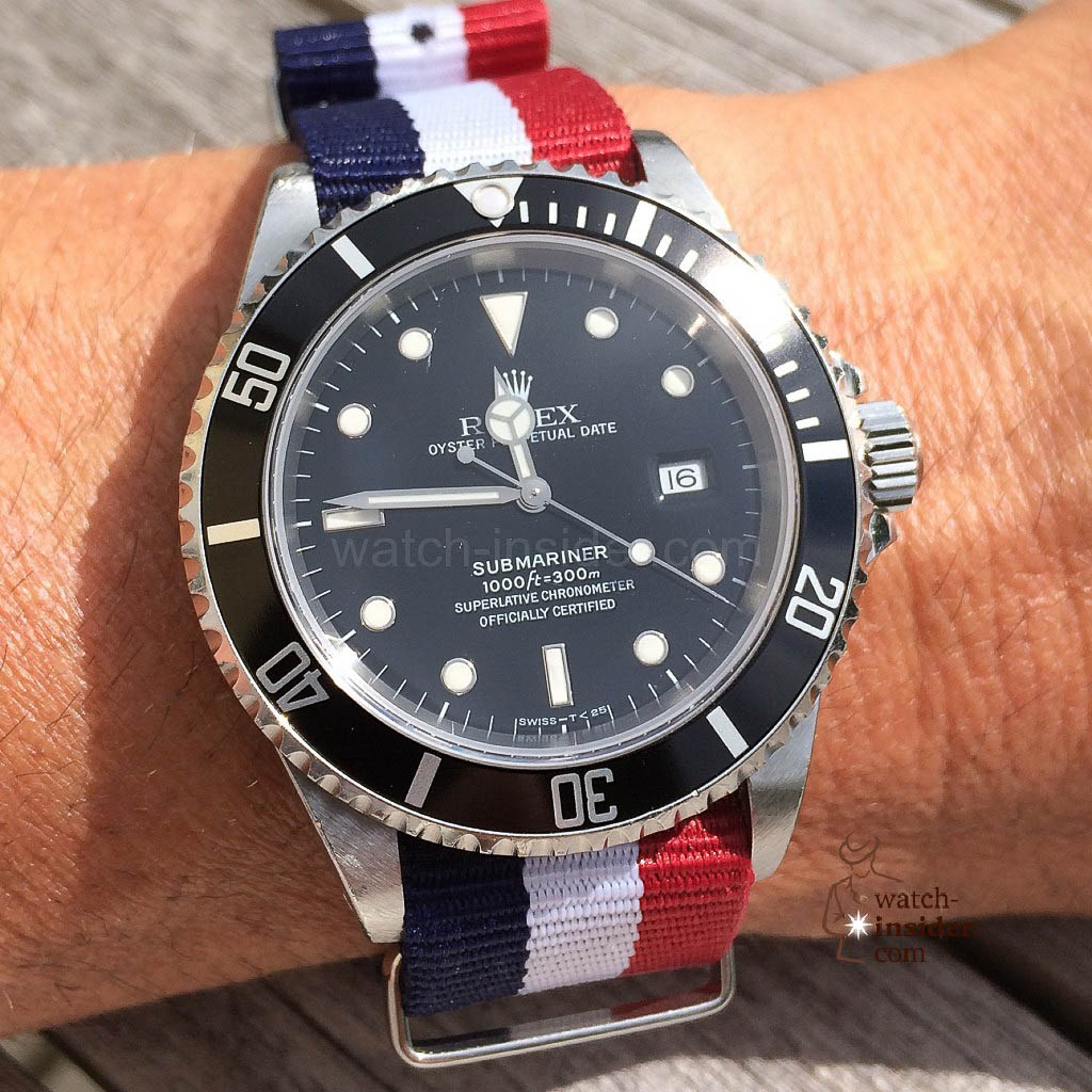 Rolex Submariner & colorful NATO-strap
