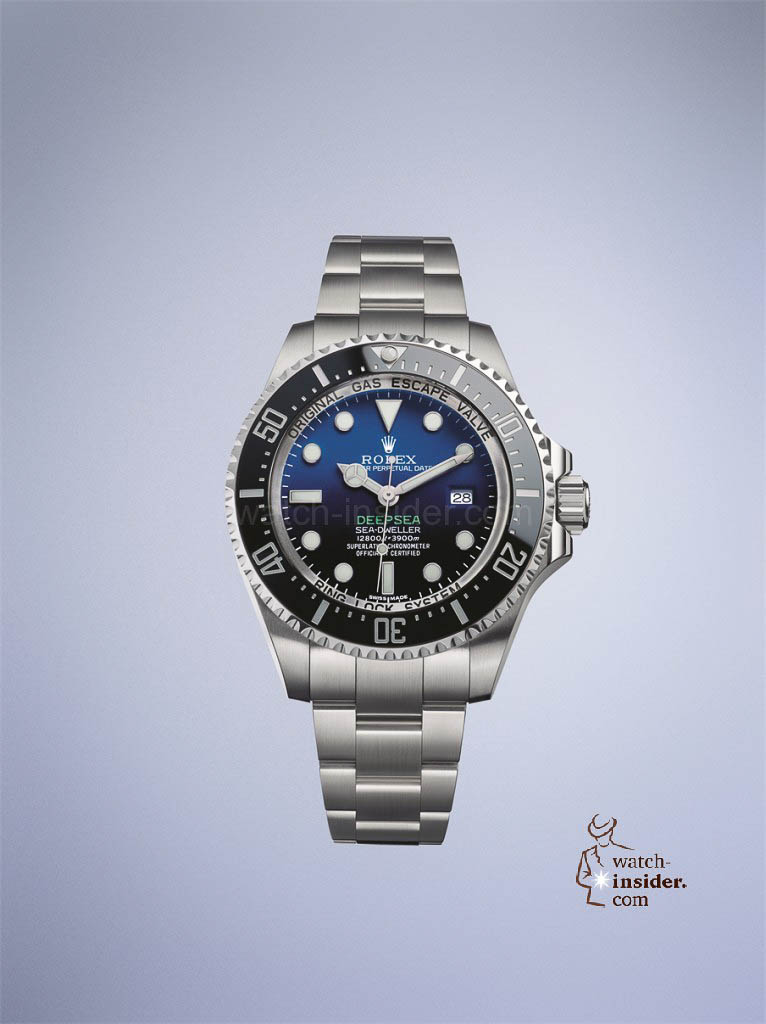 Rolex Deepsea sports a deep blue-black gradient dial