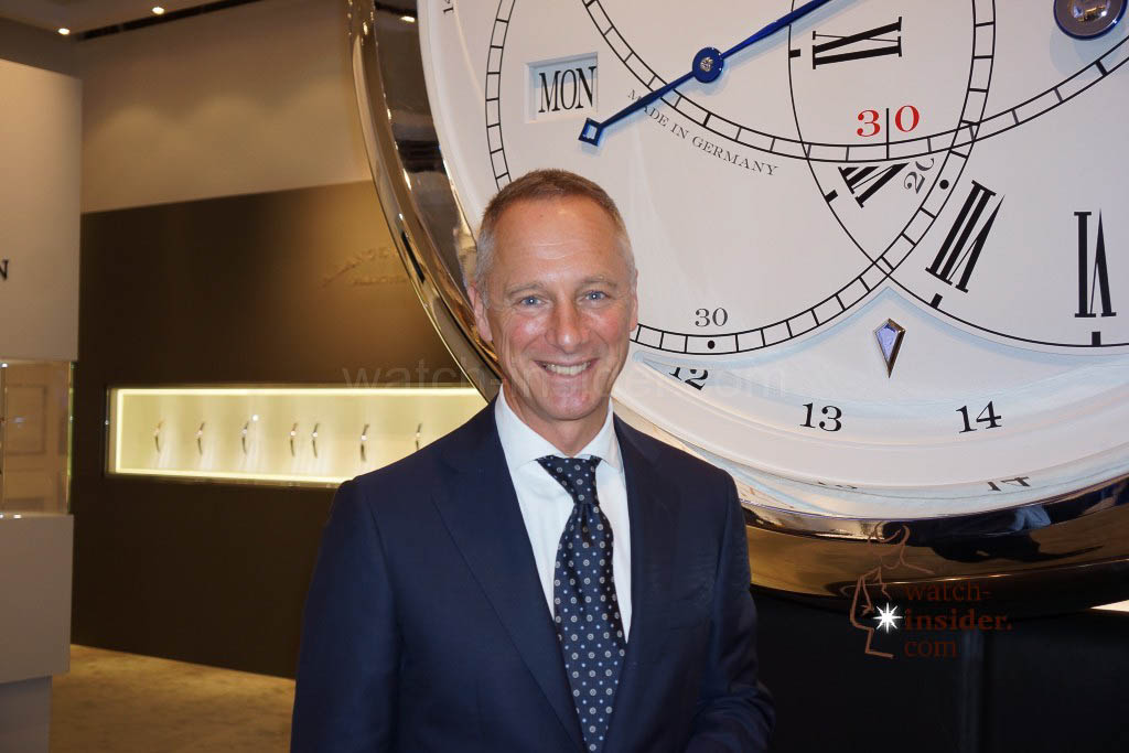Wilhelm Schmid, the CEO of A. Lange & Söhne
