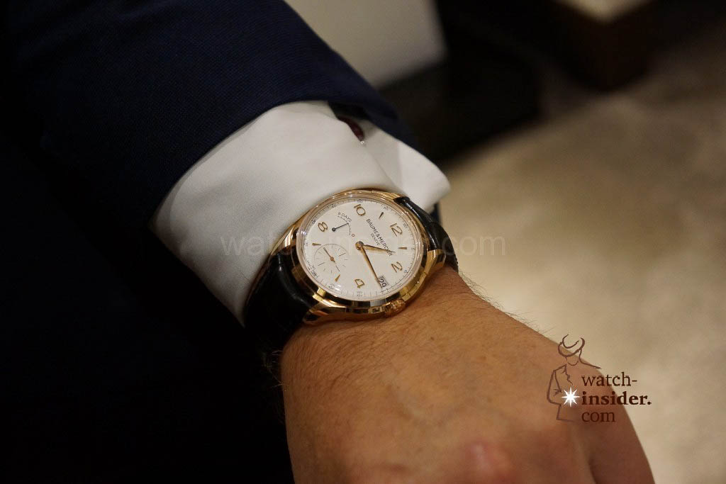 Impressions from Watches&Wonders 2014 in Hong Kong: Baume & Mercier. The watch on Alain Zimmermann´s wrist
