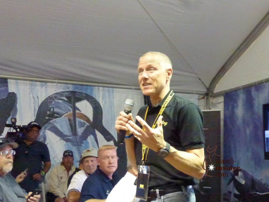 Breitling Vice President Jean-Paul Girardin presenting the Cockpit B50 this morning here in Reno