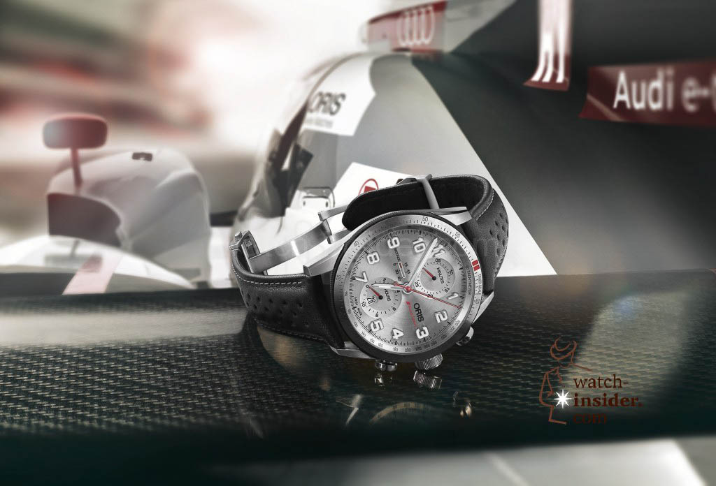 The new Oris Audi Sport Limited Edition is launched to celebrate the partnership with Audi Sport and their victory in Le Mans.