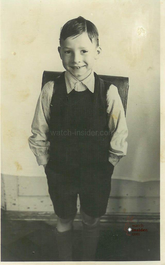 Pupil Kurt Klaus at the age of seven.