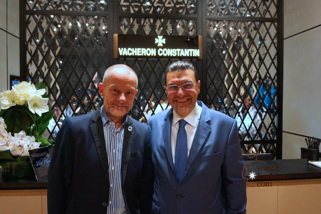 Alexander Linz and Vacheron Constantin CEO Charlie Torres