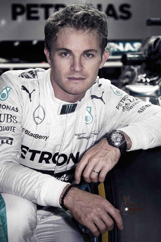 Nico Rosberg wearing his new personal Ingenieur Chronograph Edition ''Nico Rosberg'' by IWC Schaffhausen, 18 September 2014, Singapore.