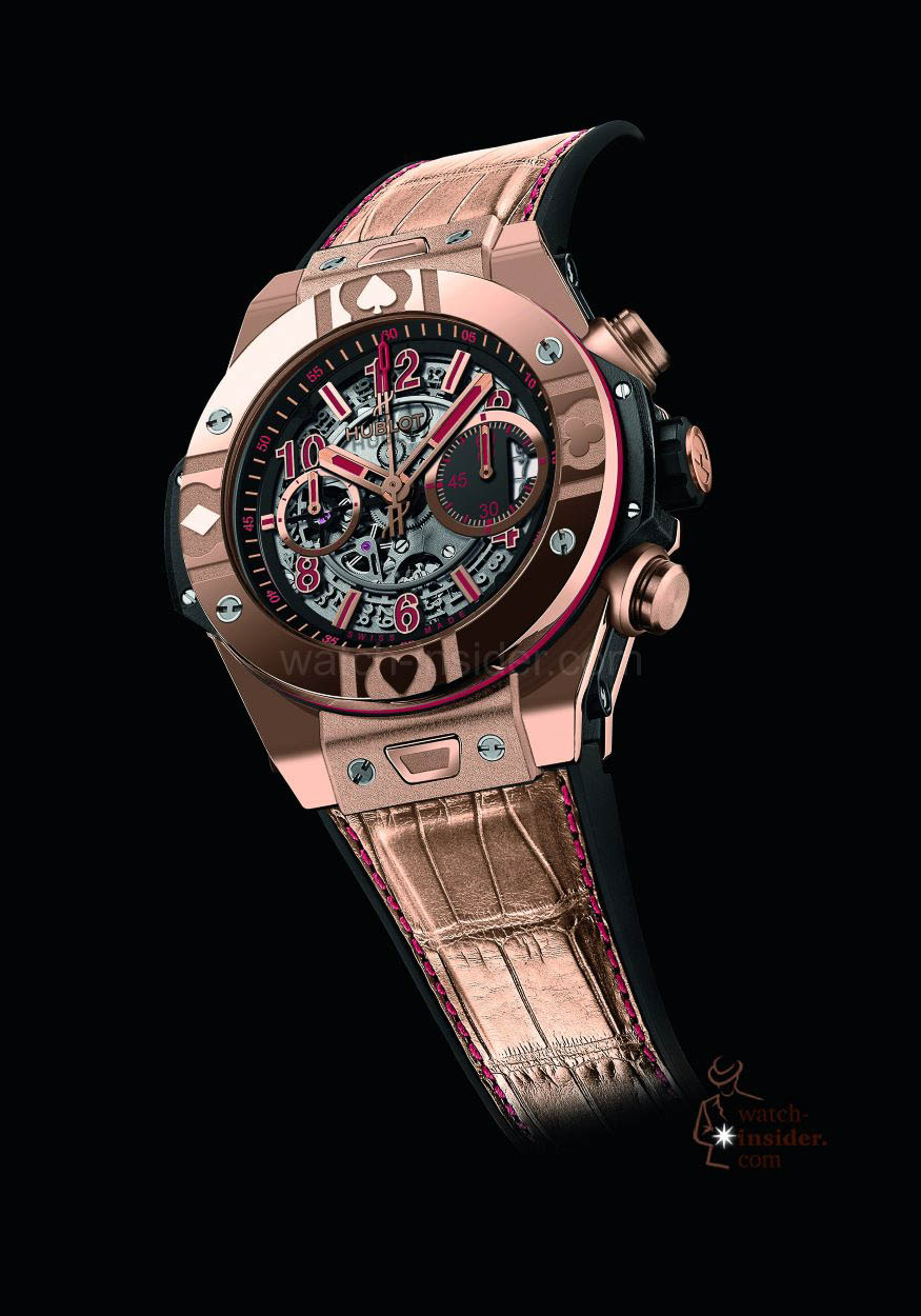 Poker watch dial watches