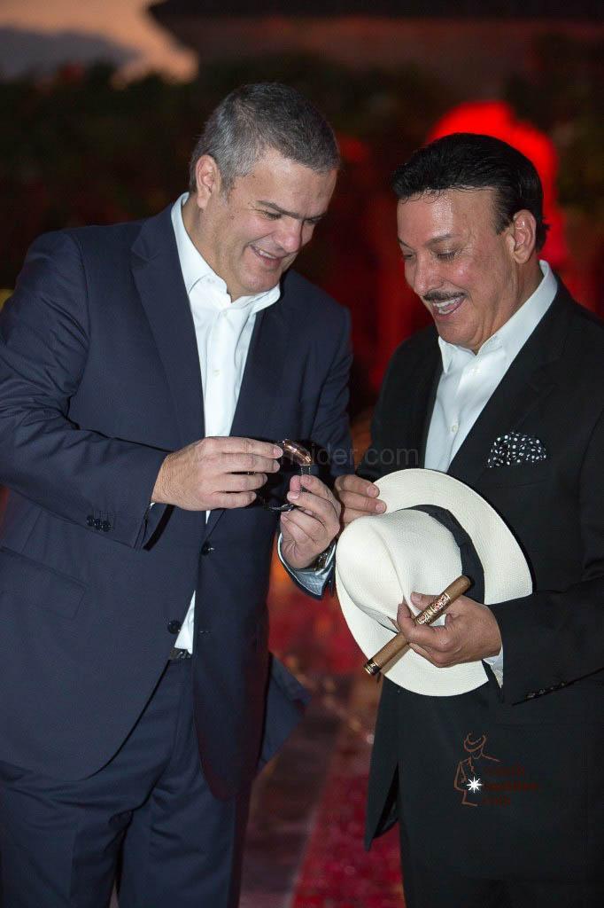 Hublot CEO Ricardo Guadaloupe (left) and Carlos Fuente Jr.