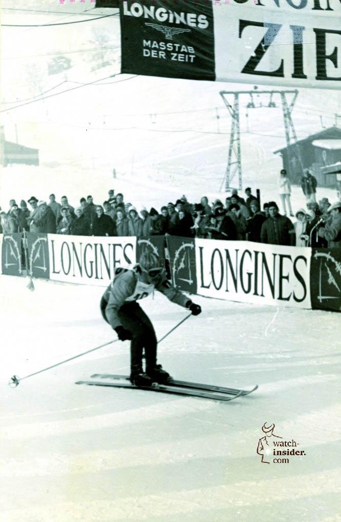 Longines timekeeping in Kitzbühel, Austria, 1960.