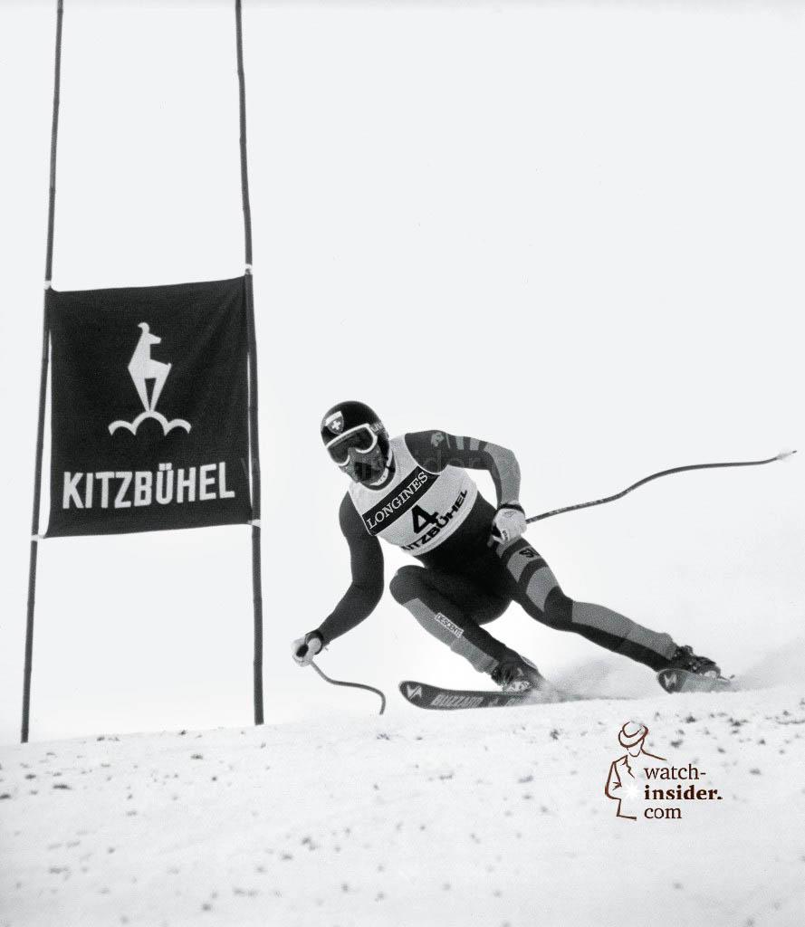 Longines timekeeping in Kitzbühel, Austria, 1985.
