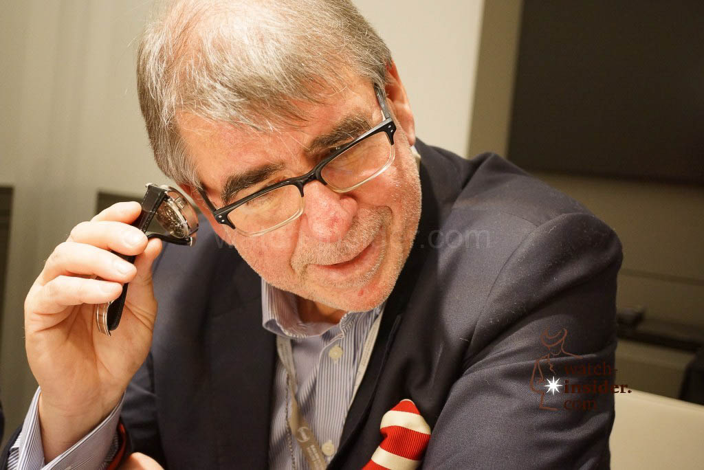 Gisbert L. Brunner, one of my colleagues and friends, listening to the A. Lange & Söhne Zeitwerk Minuterepeater.