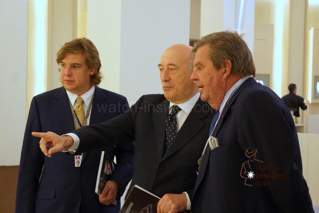 From left to right: Anton Rupert, Angelo Bonati and Johann Rupert.