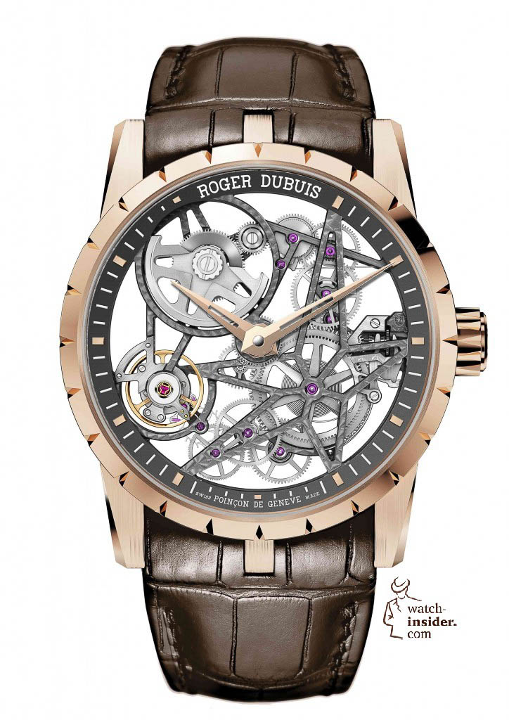 Roger Dubuis Excalibur Automatic Skeleton in pink gold
