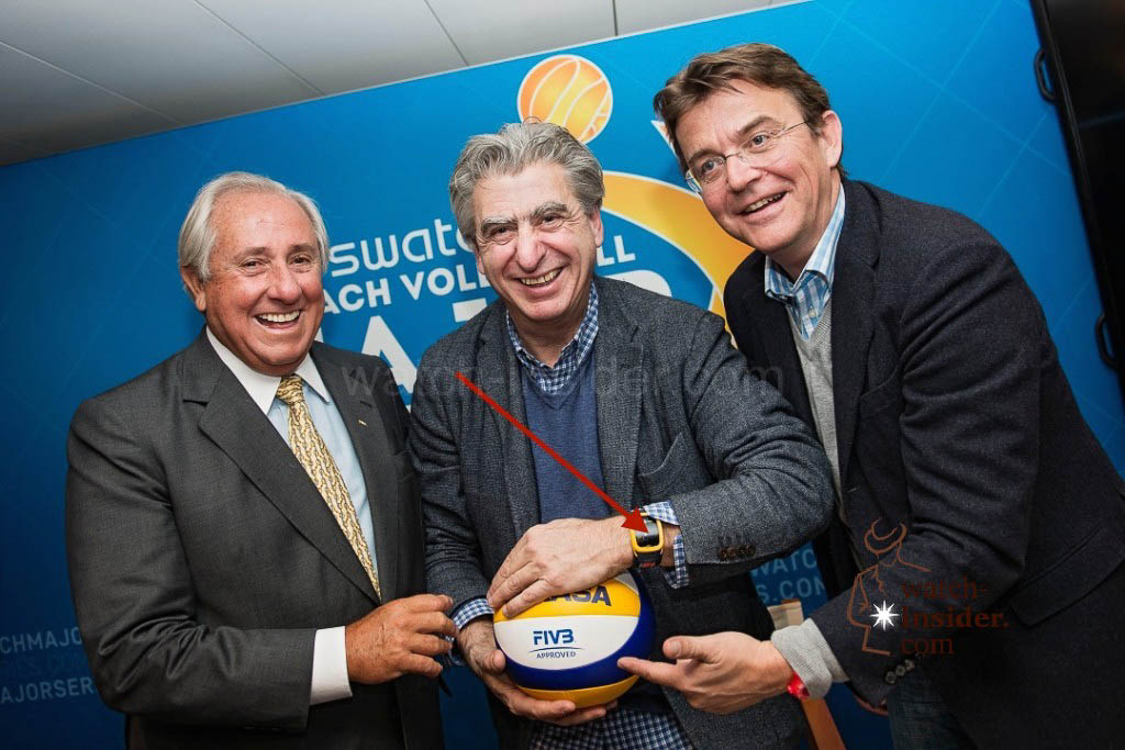 FIVB President Dr Ary S. Graça F° of Brasil, CEO of the Swatch Group Nick Hayek of Switzerland and CEO of the Beach Major Company Hannes Jagerhofer of Austria