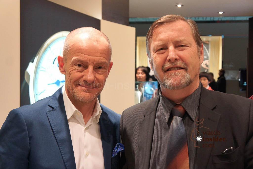 Alexander Linz and Yann Gamard, CEO of Glashütte Original