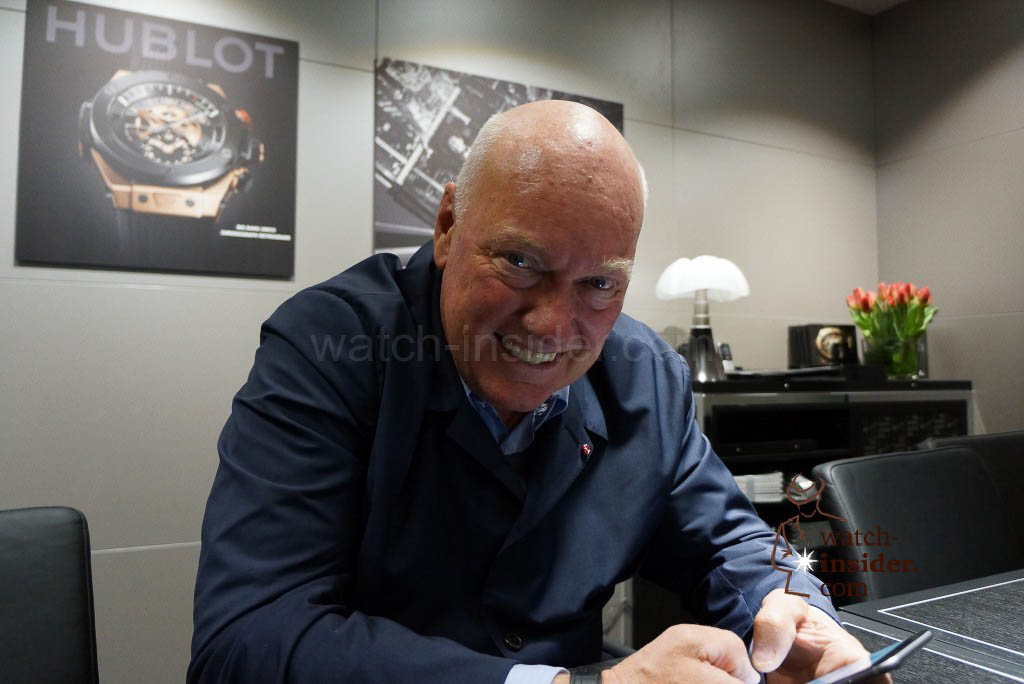 Jean-Claude Biver, head of watchmaking at LVMH