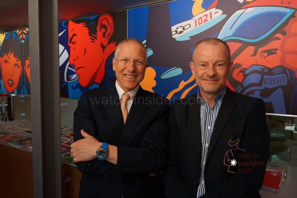 Jean-Paul Girardin, CEO Breitling and Alexander Linz