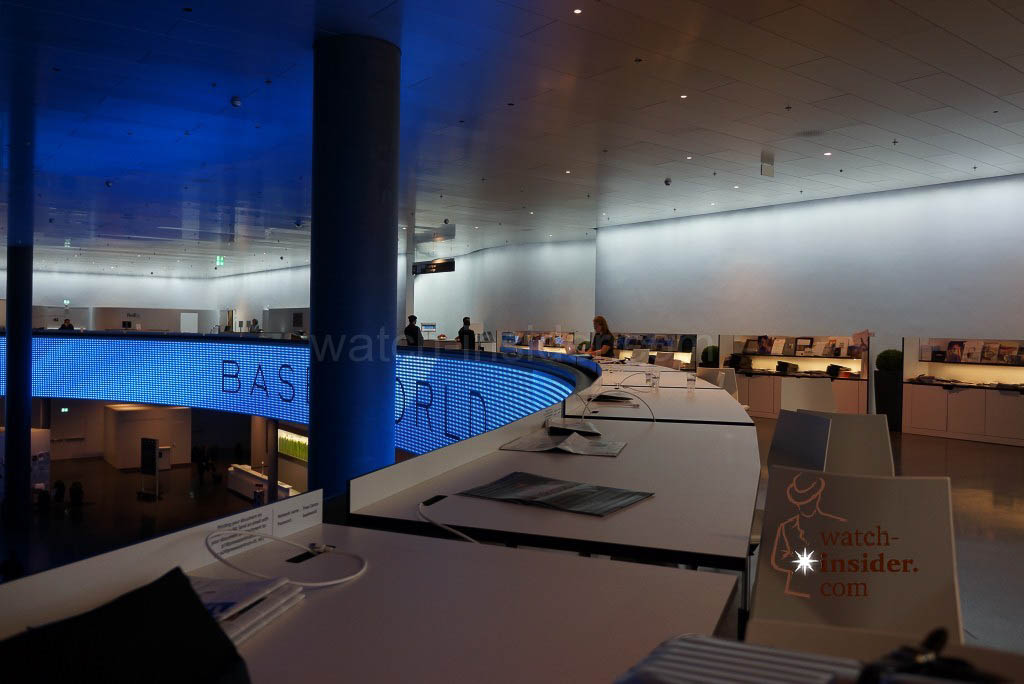 The Baselworld press centre is pretty empty at this time of the day...