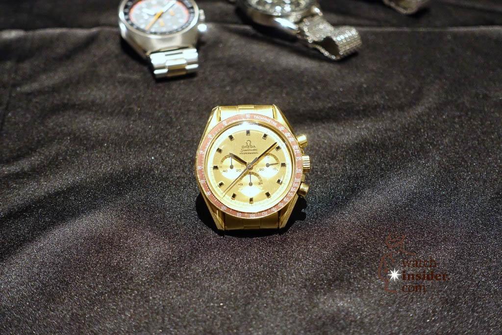 Historic Omega Speedmaster chronograph belonging to the Omega museum in Biel / Switzerland.