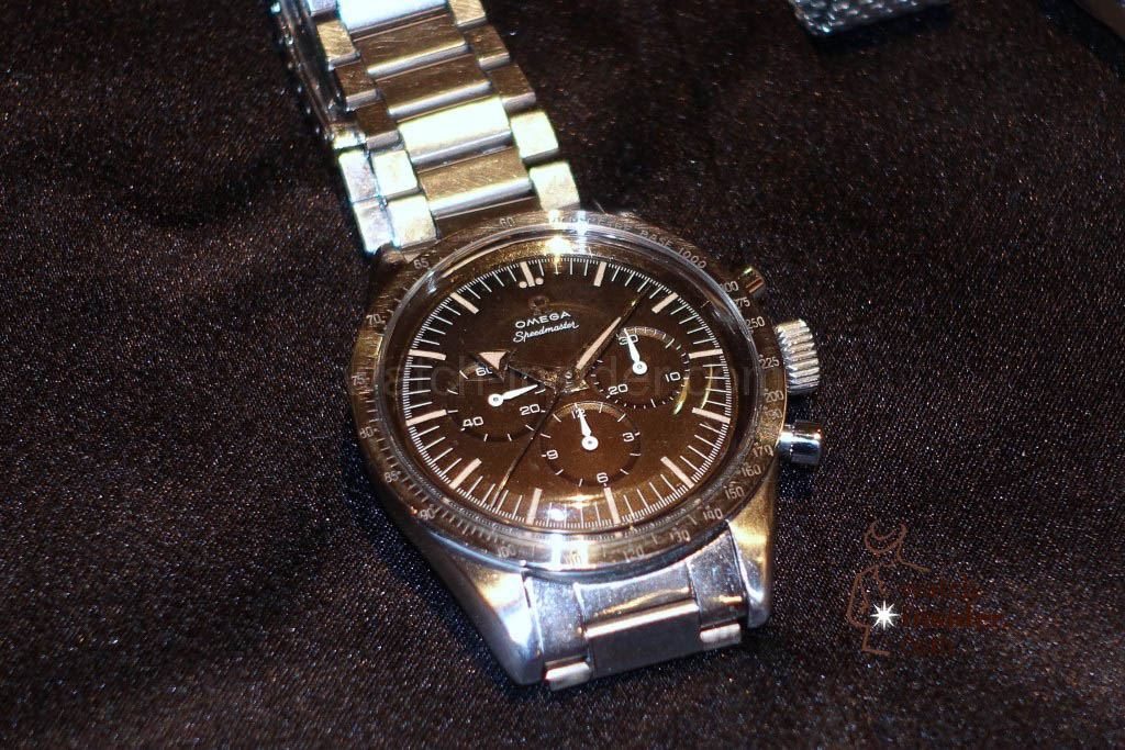 The very first Omega Speedmaster reference CK2915 manufactured between 1957 and 1958 with its Broad Arrow hands.