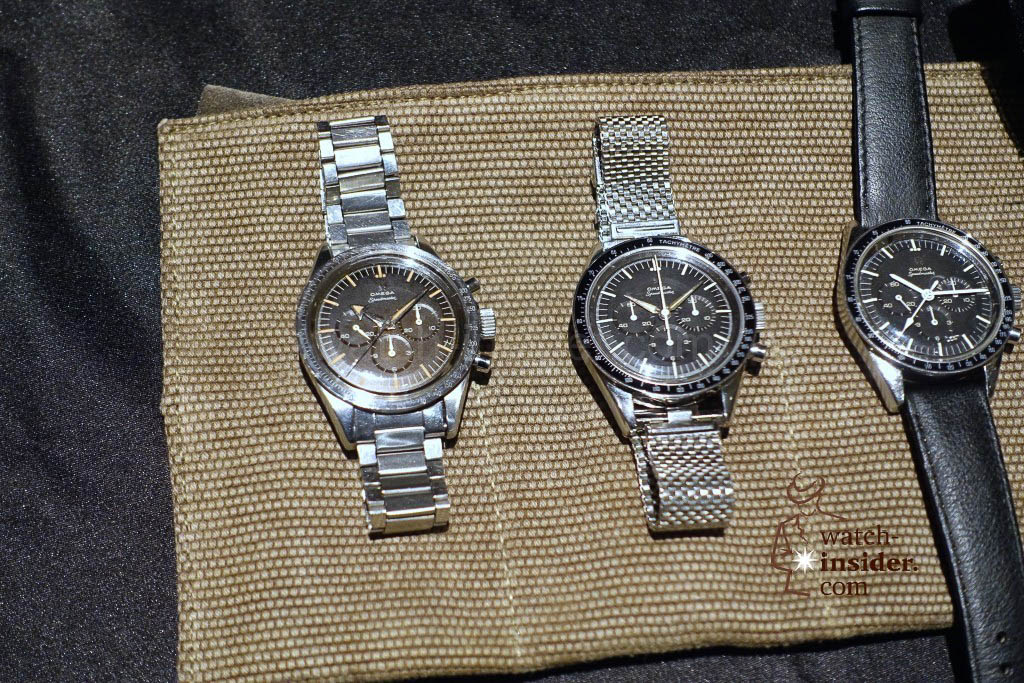 Left the very first Omega Speedmaster reference CK2915 manufactured between 1957 and 1958 with its Broad Arrow hands.