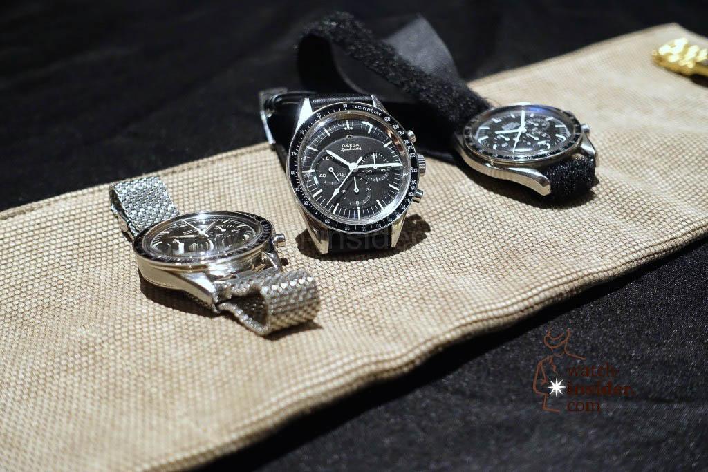 Historic Omega Speedmaster chronographs belonging to the Omega museum in Biel / Switzerland.