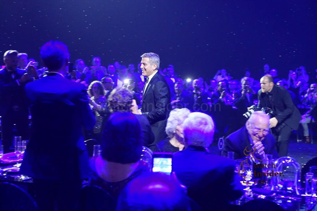 George Clooney at the Omega Speedmaster evening in Houston