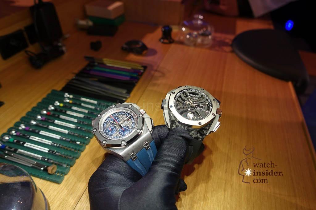 Audemars Piguet Royal Oak Offshore Chronograph Michael Schumacher of 2012  and Royal Oak Concept Laptimer Michael Schumacher