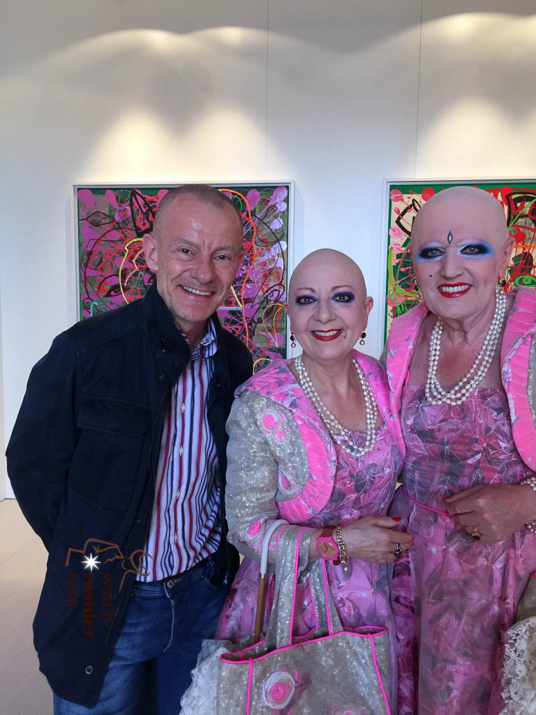 Alexander Linz with Eva & Adele, the contemporary artists based in Berlin, at the Biennale 2015 in venice