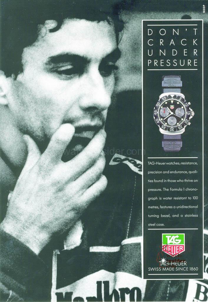 TAG Heuer Ayrton Senna advertisement 1991