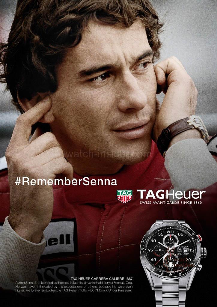 TAG Heuer Ayrton Senna advertisement 2015