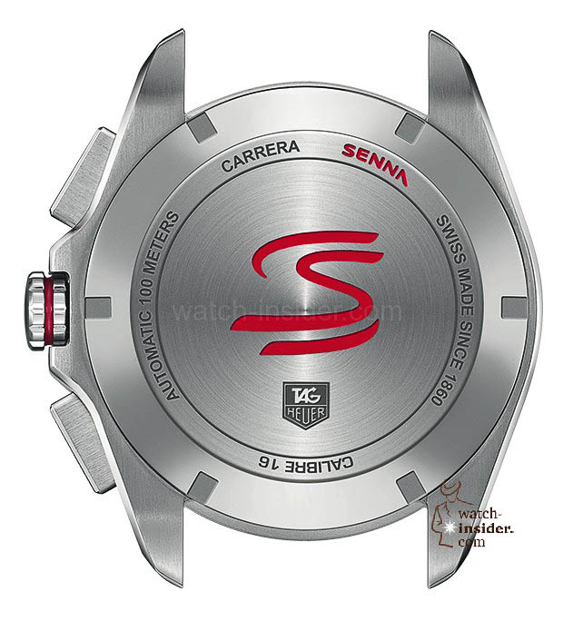 TAG Heuer Carrera Calibre 16 Chrono Senna Back CBB2010.BA0906