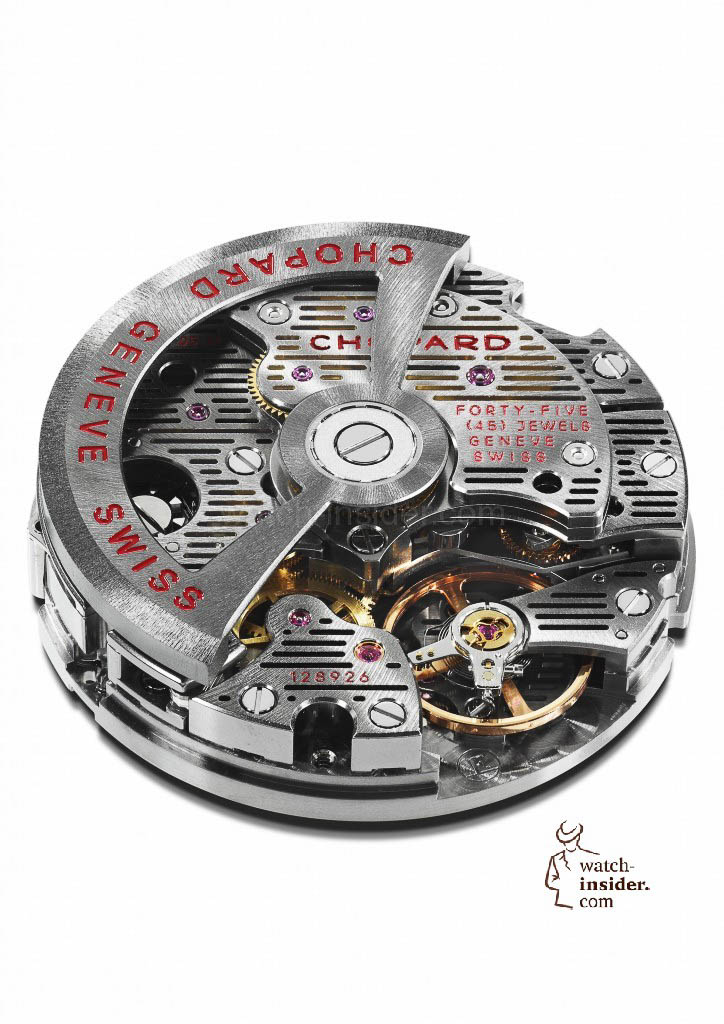 Self-winding chronograph movement Chopard 03.05-M of the Superfast Chrono Porsche 919 Jacky Ickx Edition
