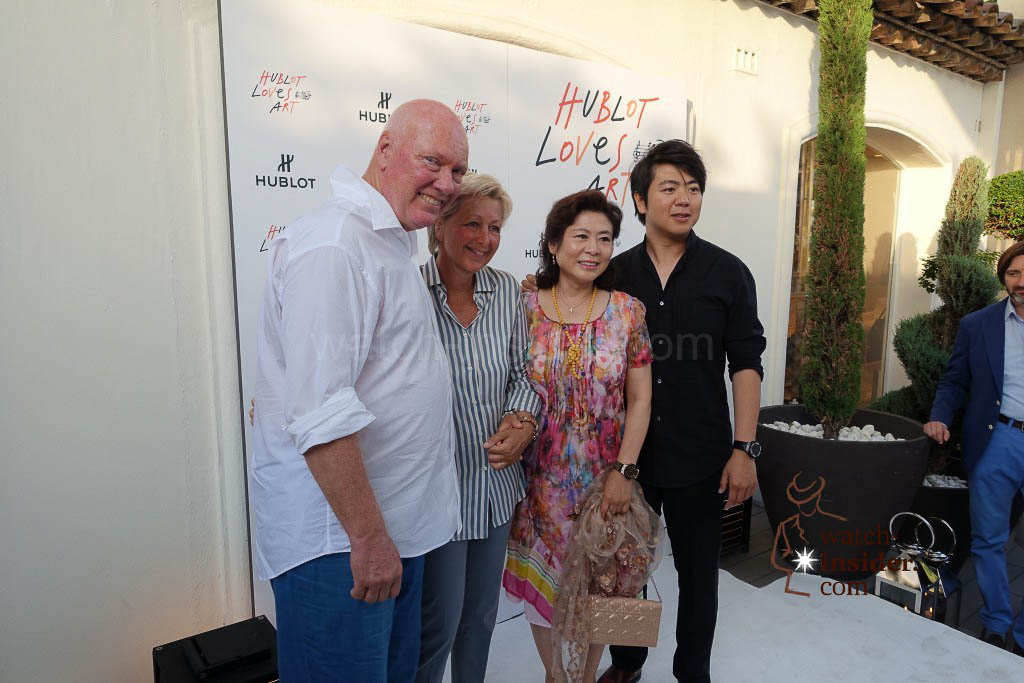 Jean-Claude and Sandra Biver and Lang Lang together with his mother