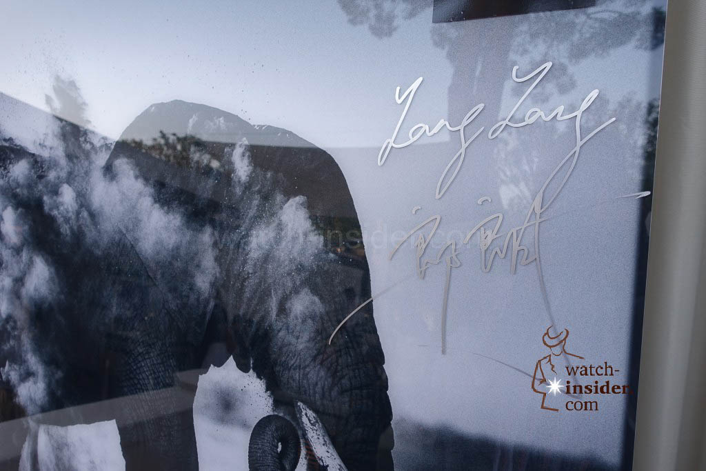 Lang Lang´s signature on the the elephant picture ...