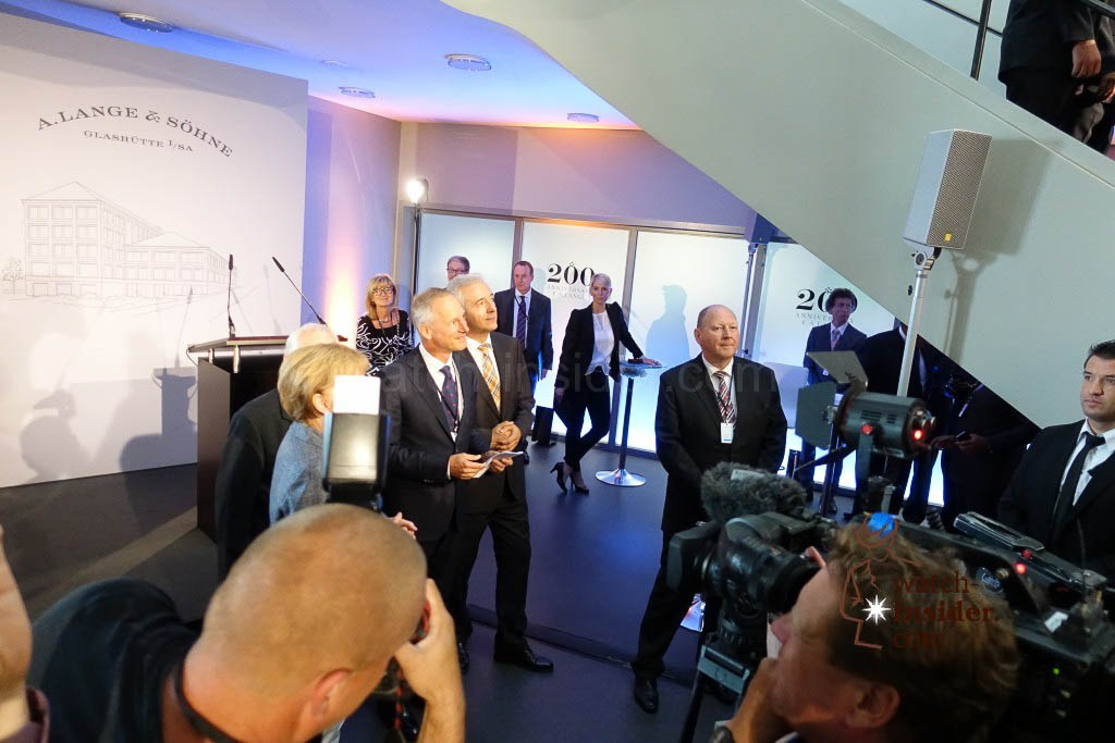 Punctual and precise as an A. Lange & Söhne wristwatch the german Chancellor Angela Merkel arrives in Glashütte