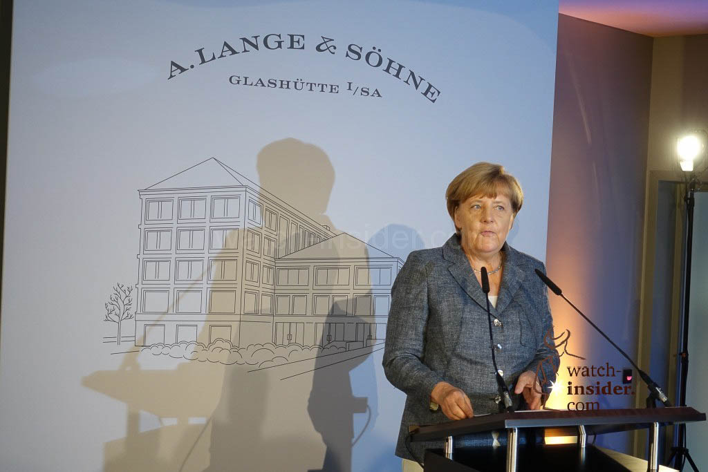The German Chancellor Angela Merkel speaks to us. What a charismatic speech!