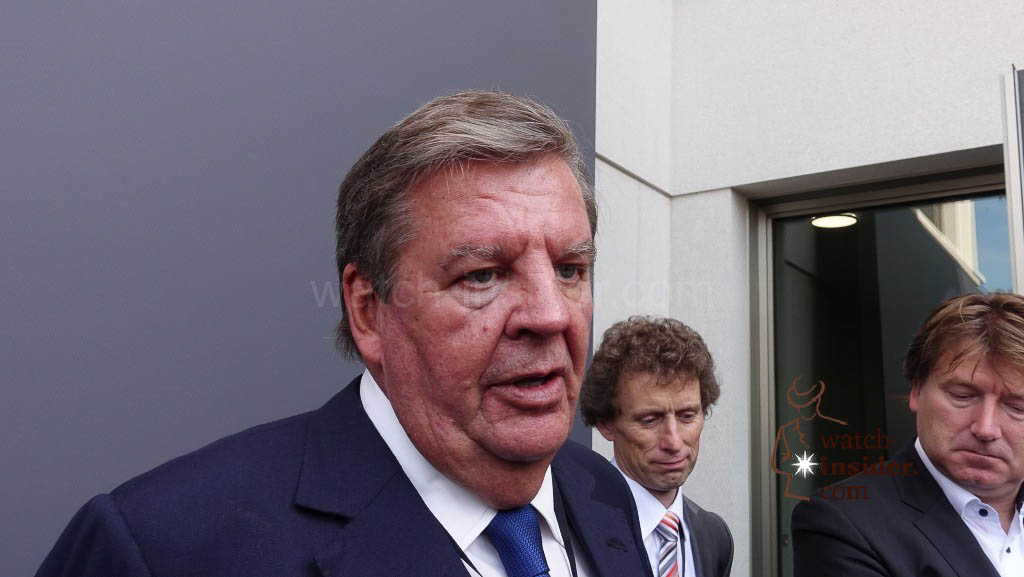 Richemont Chairman Johann Rupert talking to us.