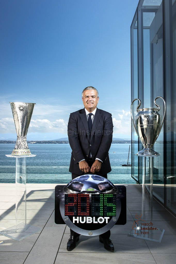 Ricardo Guadalupe, CEO of Hublot, and the Champions League Referee Board
