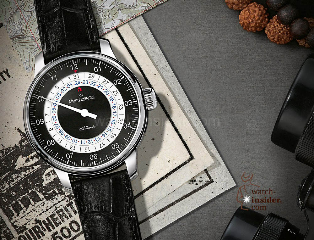 One hand – two times: MeisterSinger introduces the first dual-time watch with one single hand