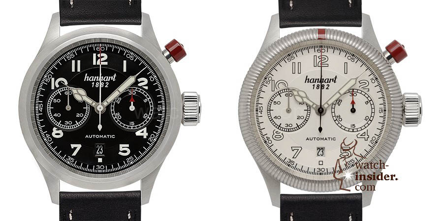 Hanhart PIONEER MonoControl, flat and fluted bezel