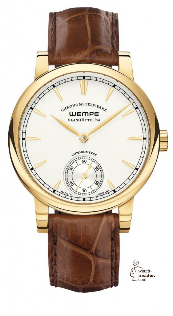 Wempe Glashütte i/SA Chronometerwerke Small Second in 3N-yellow-gold