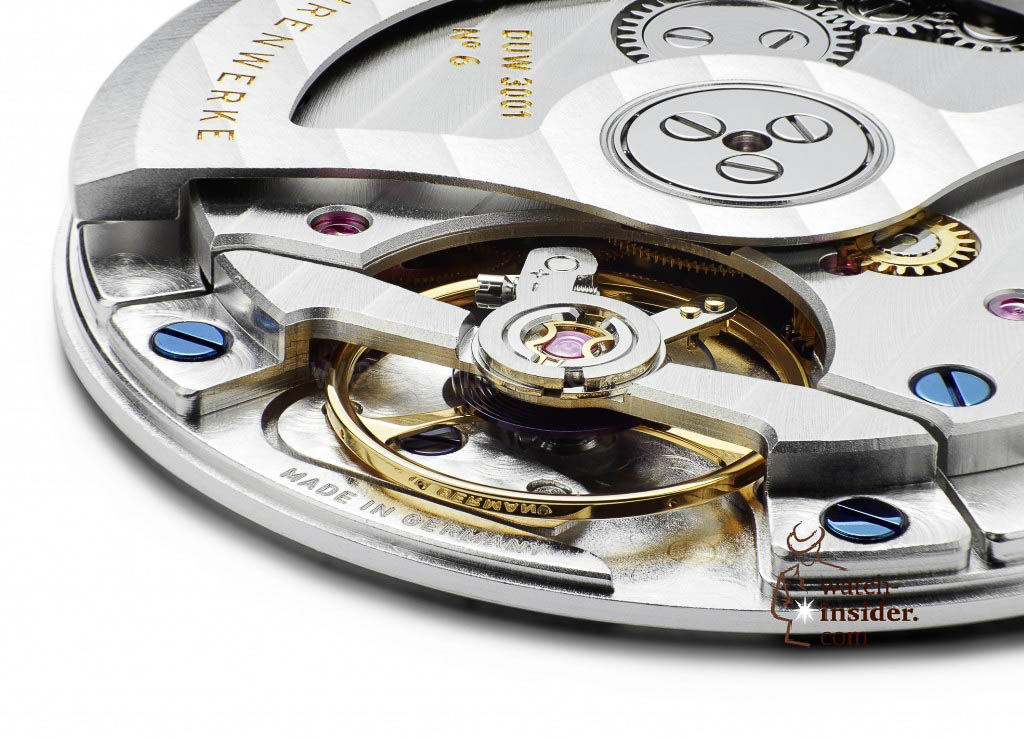 The new Nomos Glashütte ultra-flat automatic calibre DUW 3001. The company own Swing System